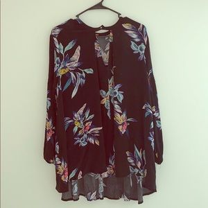 Free people flowy floral tunic
